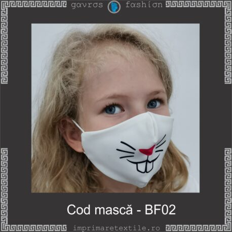 Mască personalizată copii cod BF02 (2)