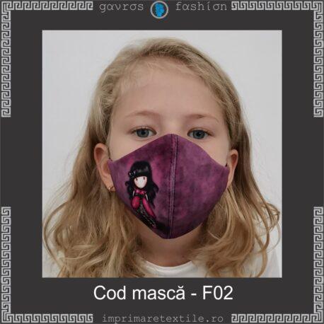Mască personalizată copii cod F02 (2)