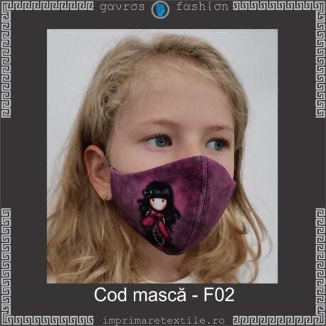 Mască personalizată copii cod F02
