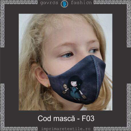 Mască personalizată copii cod F03 (2)