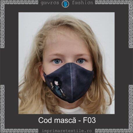 Mască personalizată copii cod F03