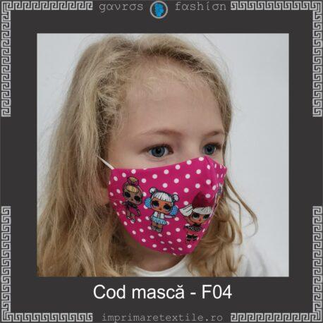 Mască personalizată copii cod F04 (2)