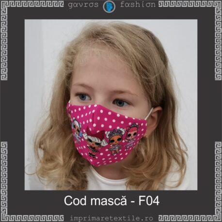 Mască personalizată copii cod F04