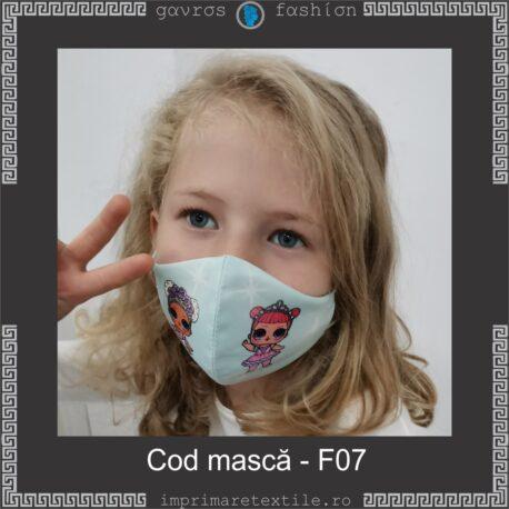 Mască personalizată copii cod F07