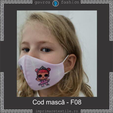 Mască personalizată copii cod F08